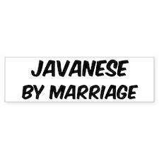 Javanese by marriage Bumper Bumper Sticker