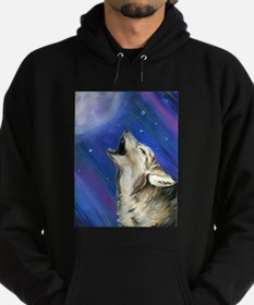 Wolf and Full Moon Hoodie