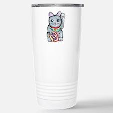 Lucky Cat Maneki Neko Stainless Steel Travel Mug