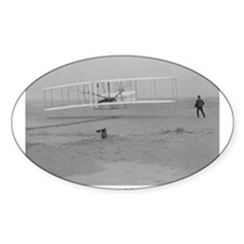 Wright Bros at Kitty Hawk 190 Oval Decal