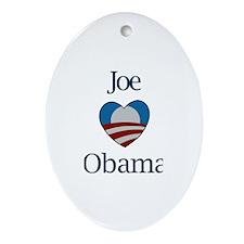 Joe Loves Obama Oval Ornament
