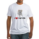 I heart Nerds Fitted T-Shirt