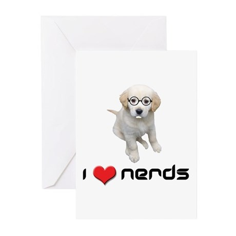 I heart Nerds Greeting Cards (Pk of 10)