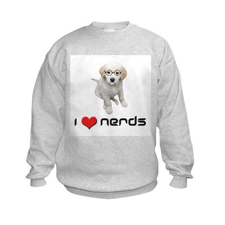 I heart Nerds Kids Sweatshirt