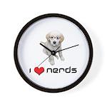 I heart Nerds Wall Clock