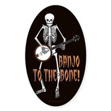 Banjo Bones! Oval Decal