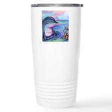 Easter Bunny & Dolphin Travel Mug