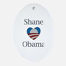 Shane Loves Obama Oval Ornament