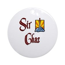 Sir Chaz Ornament (Round)