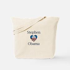 Stephen Loves Obama Tote Bag