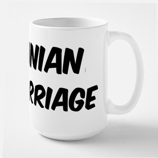 Albanian by marriage Large Mug
