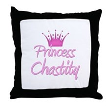 Princess Chastity Throw Pillow