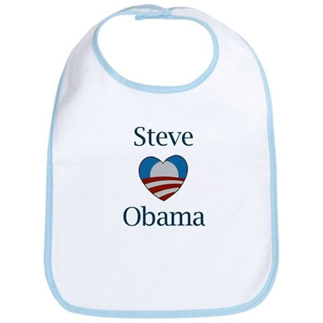 Steve Loves Obama Bib