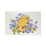 Honey Bee Dance Rectangle Magnet