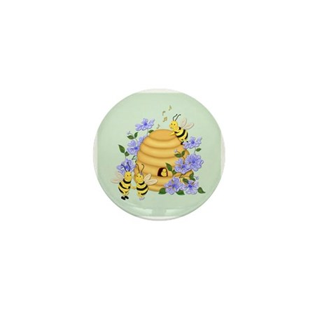 Honey Bee Dance Mini Button (10 pack)