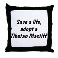Adopt Tibetan Mastiff Throw Pillow