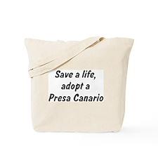 Adopt Presa Canario Tote Bag