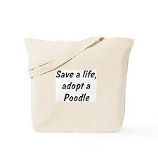 Adopt Poodle Tote Bag