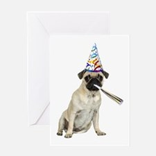 Pug Party Greeting Card