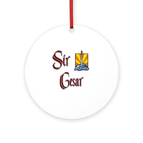 Sir Cesar Ornament (Round)