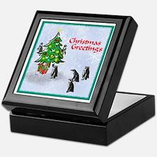Penguins Christmas Keepsake Box