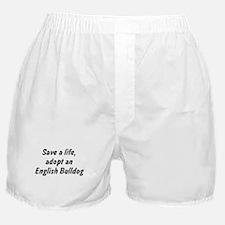 Adopt English Bulldog Boxer Shorts