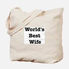 Worlds Best Wife Tote Bag