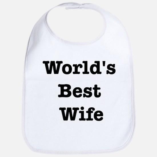 Worlds Best Wife Bib