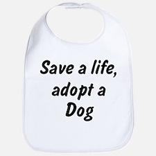 Adopt Dog Bib