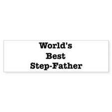 Worlds Best Step-Father Bumper Car Sticker