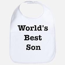 Worlds Best Son Bib