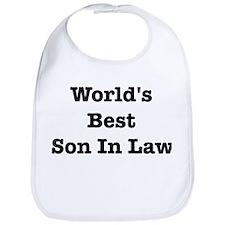 Worlds Best Son In Law Bib