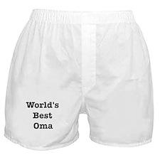 Worlds Best Oma Boxer Shorts