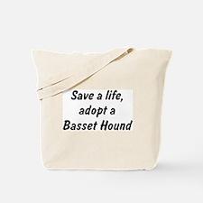 Adopt Basset Hound Tote Bag