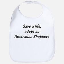Adopt Australian Shepherd Bib