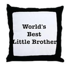 Worlds Best Little Brother Throw Pillow
