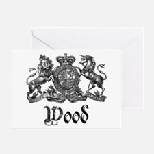 Wood Vintage Crest Family Name Greeting Card