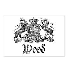Wood Vintage Crest Family Name Postcards (Package