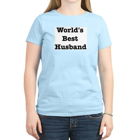 Worlds Best Husband Women's Light T-Shirt