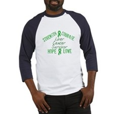 Liver Inspirational Survivor Baseball Jersey