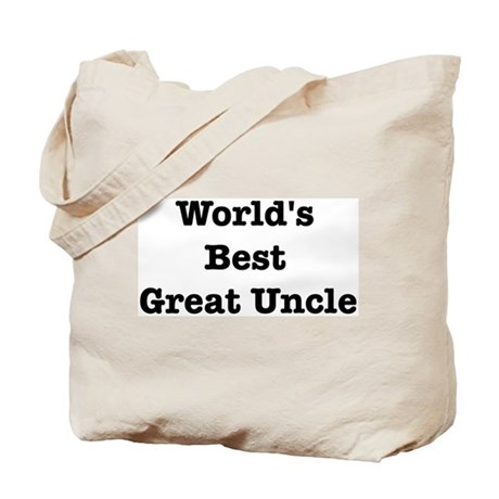 Worlds Best Great Uncle Tote Bag
