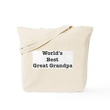 Worlds Best Great Grandpa Tote Bag
