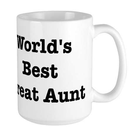 Worlds Best Great Aunt Large Mug