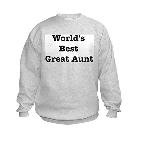 Worlds Best Great Aunt Kids Sweatshirt