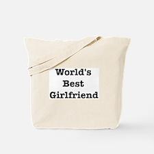 Worlds Best Girlfriend Tote Bag