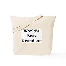 Worlds Best Grandson Tote Bag