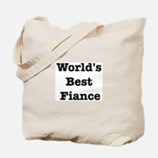 Worlds Best Fiance Tote Bag