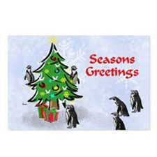 Penguins Christmas Postcards (Package of 8)