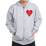 Valentine's Day Heart Zip Hoodie