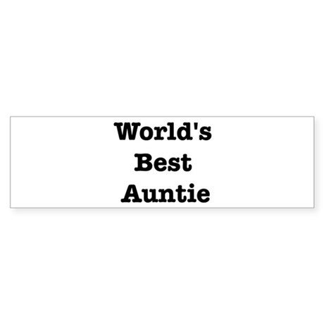 Worlds Best Auntie Bumper Sticker